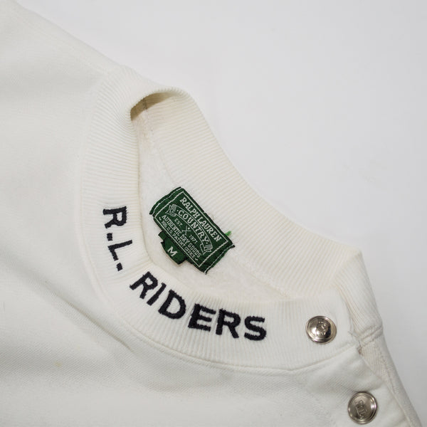 Ralph Lauren Country R.L. Riders Motorcycle Crewneck Sweatshirt
