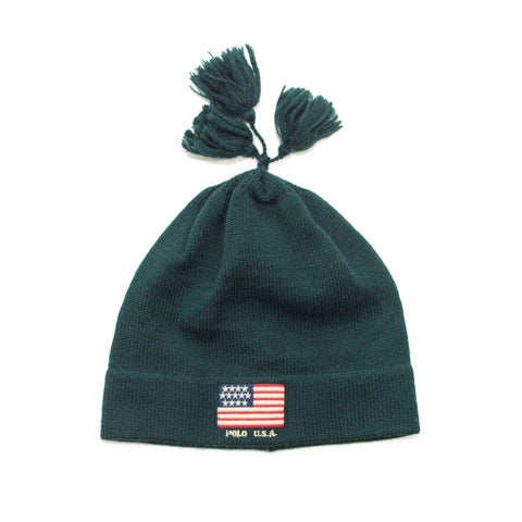 Polo USA Flag Tassel beanie