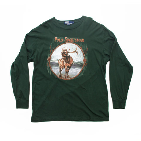 POLO Sportsman Elk Stag Long Sleeve T-Shirt