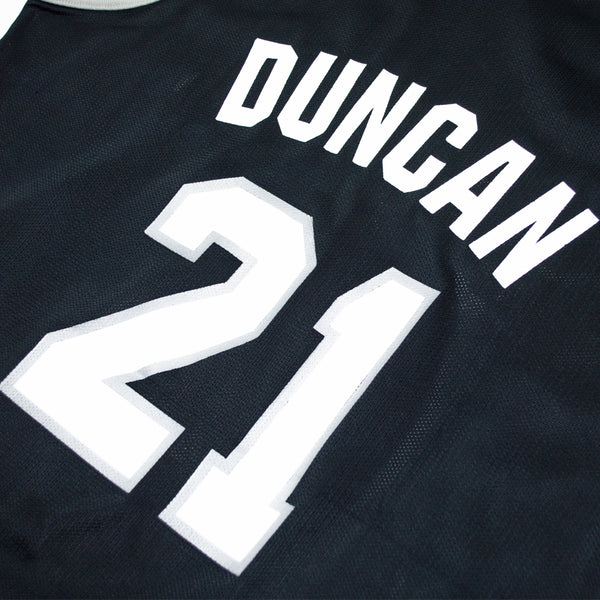 90s Champion Tim Duncan San Antonio Spurs Road Jersey