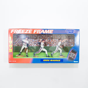 1998 Greg Maddux 'Starting Lineup' Freeze Frame Figurines by Kenner