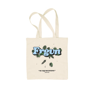 """FRGVN In The Beginning Logo"" Tote Bag"