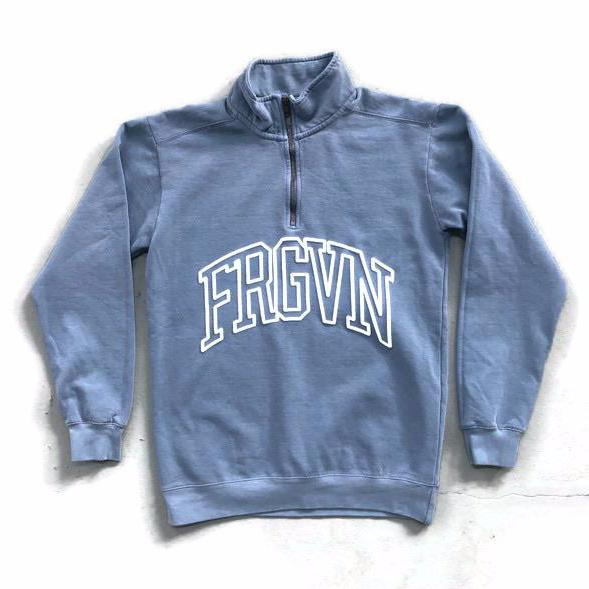 FRGVN Quarter Zip Logo Sweater (3D Puff Print)