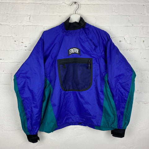 Vintage FRGVN Mock Neck Pullover Windbreaker Jacket