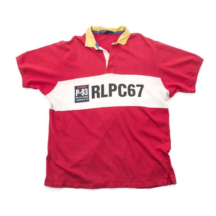 1993 POLO Color Block Rugby Shirt
