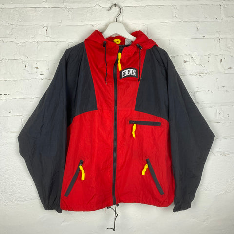 Vintage FRGVN Hooded Lightweight Windbreaker Jacket