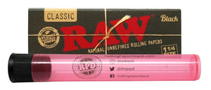 RAW Black Natural Unrefined 1 1/4 Rolling Papers - Online Bongs, Pipes Trimeck.com
