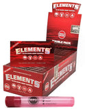 Elements Red Single Wide Slow Burn Hemp Papers (25 Packs/Full Box) with Rolling Paper Depot Doob Tube - Online Bongs, Pipes Trimeck.com
