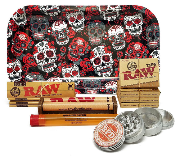 Skull RAW Bundle - 12 Items - Online Bongs, Pipes Trimeck.com