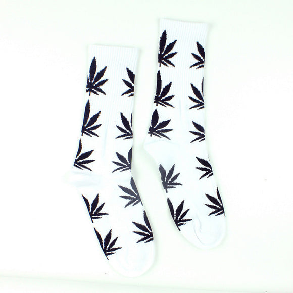 Long Cotton Leafy Socks - Online Bongs, Pipes Trimeck.com