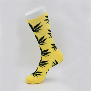 Leafy Cotton Socks - Online Bongs, Pipes Trimeck.com