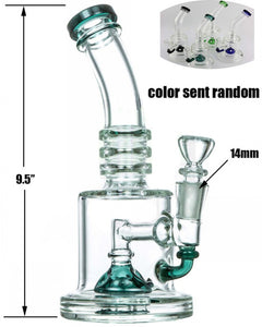 "Random Color Half Fab Egg Perc  9.5"" - Online Bongs, Pipes Trimeck.com"
