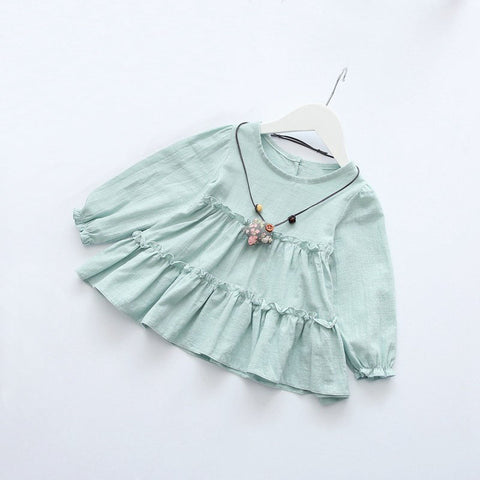 Mint Ruffled Boho Top
