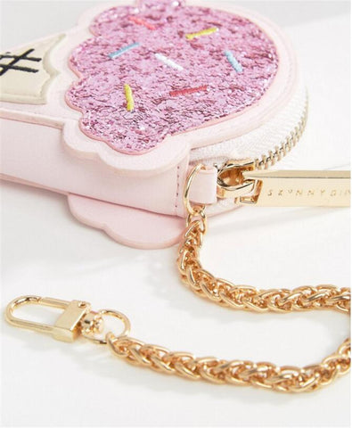 Ice Cream Coin Purse in Pink