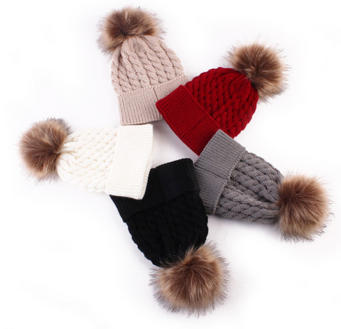 Knit Pom Beanie- Choose your color