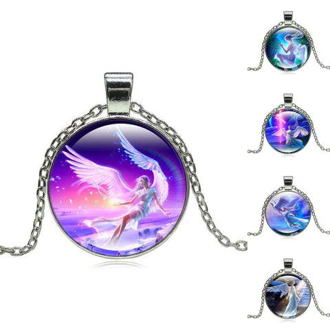 Image of Goddess Guardian Angel Pendant Necklace