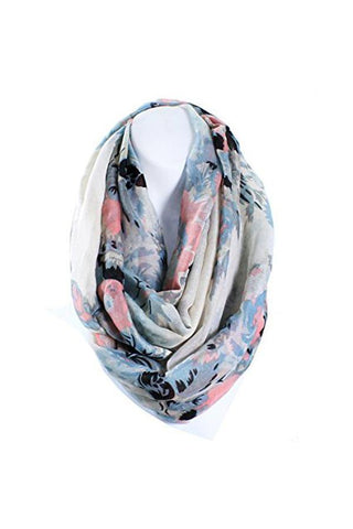 Image of Flower Infinity Scarf Lightweight