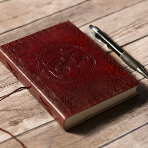 Om Yoga Handmade Leather Journal
