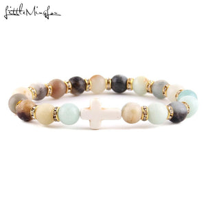 Rock of Faith Stone Bracelet
