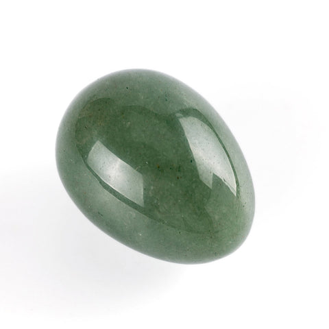 Image of Green Aventurine Eggs With Wood Stand