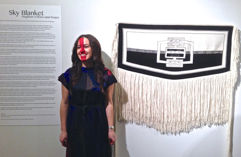 Jaad Kuujus, Meghann O'Brien, Bill Reid Gallery, Sky, Blanket, Weaving