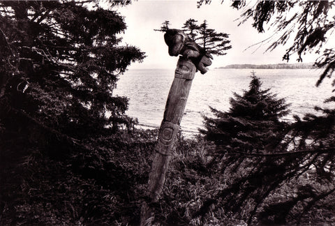 Peter Morin, revisiting the silence, totem poles, northwest coast, photography, bill reid gallery, adelaide de Menil, 1960s, 60s