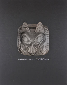 Haida Wolf, Ghuuts - Special Edition Embossed Silver Leaf Print