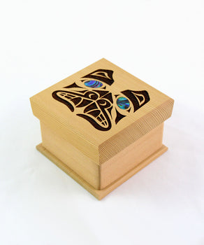 Bear bentwood box by Coast Salish artist Shain Jackson