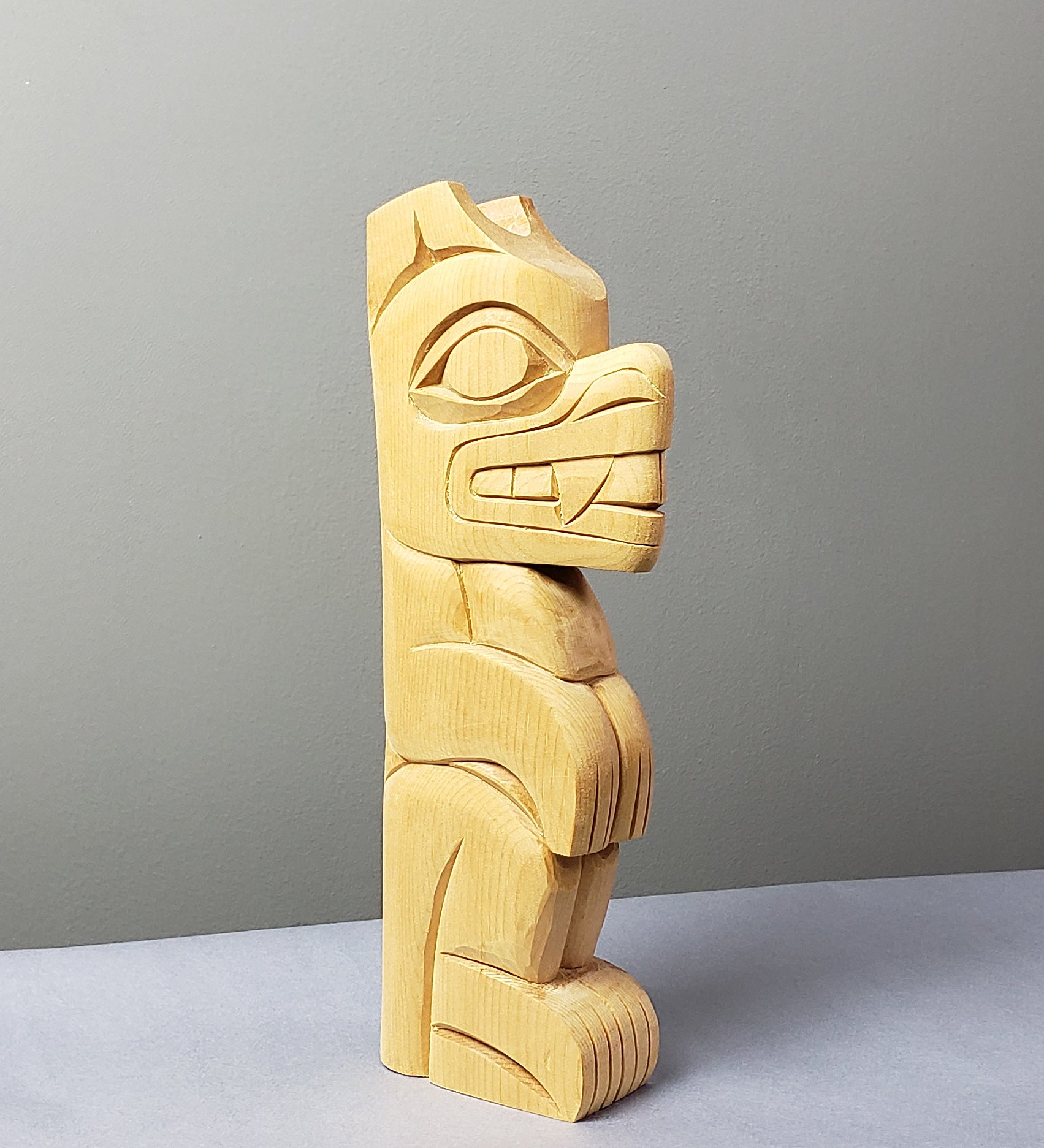 Bear - Yellow Cedar Sculpture