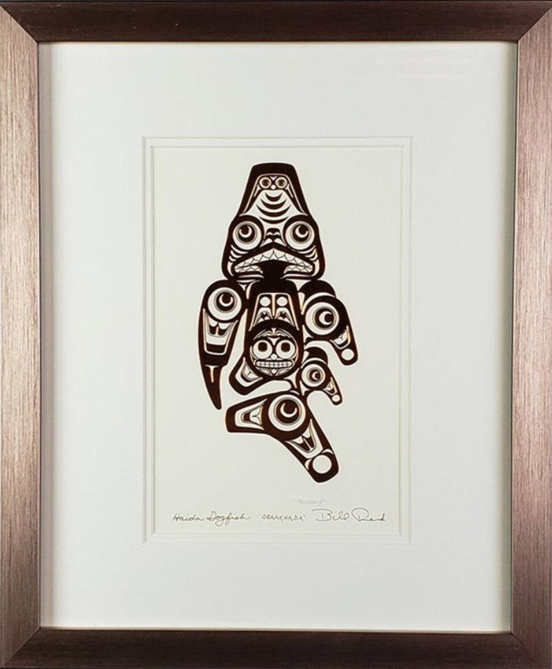 Haida Dogfish - QQAAXHADA - Framed Art Card