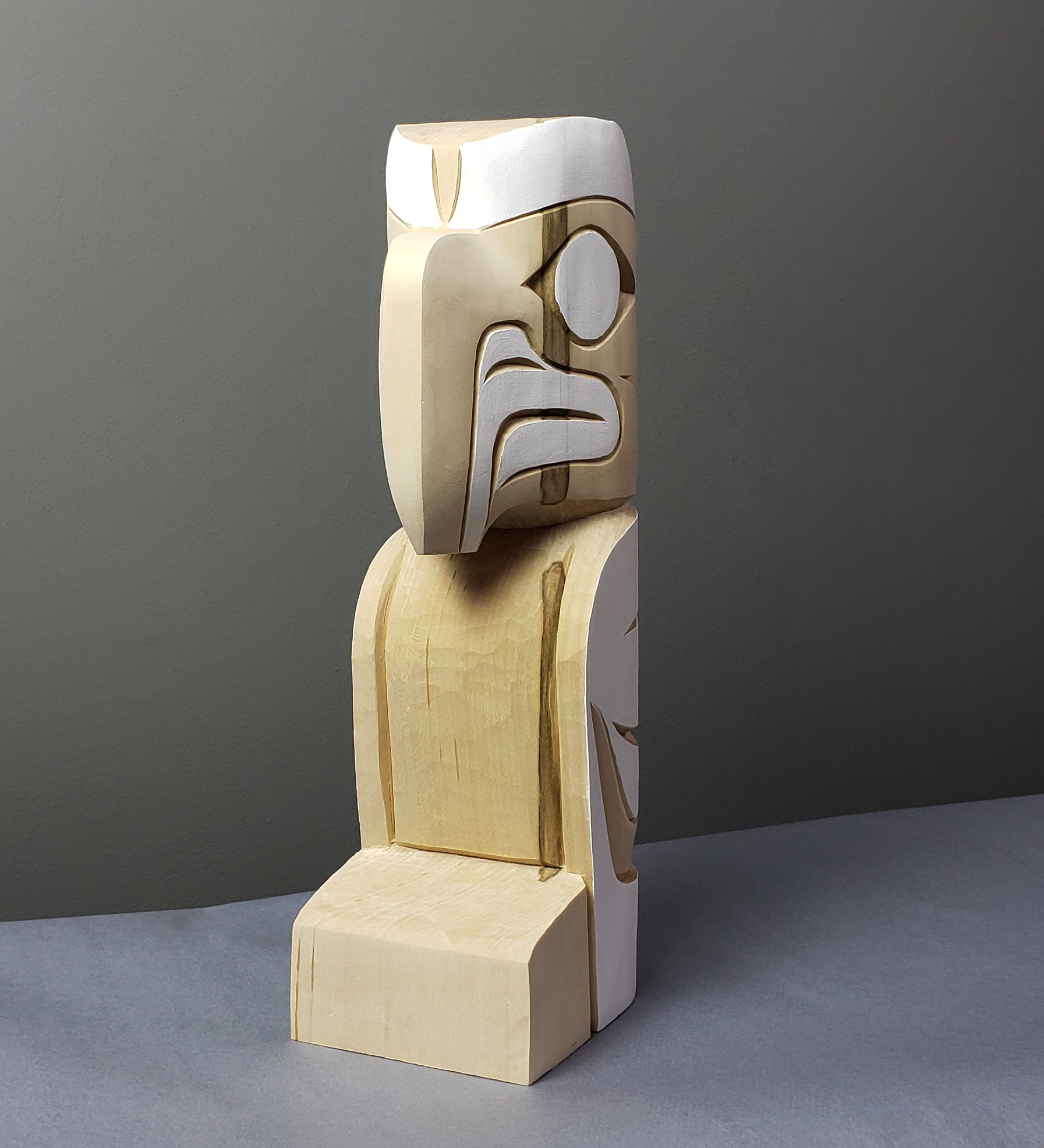 Eagle - Yellow Cedar Sculpture