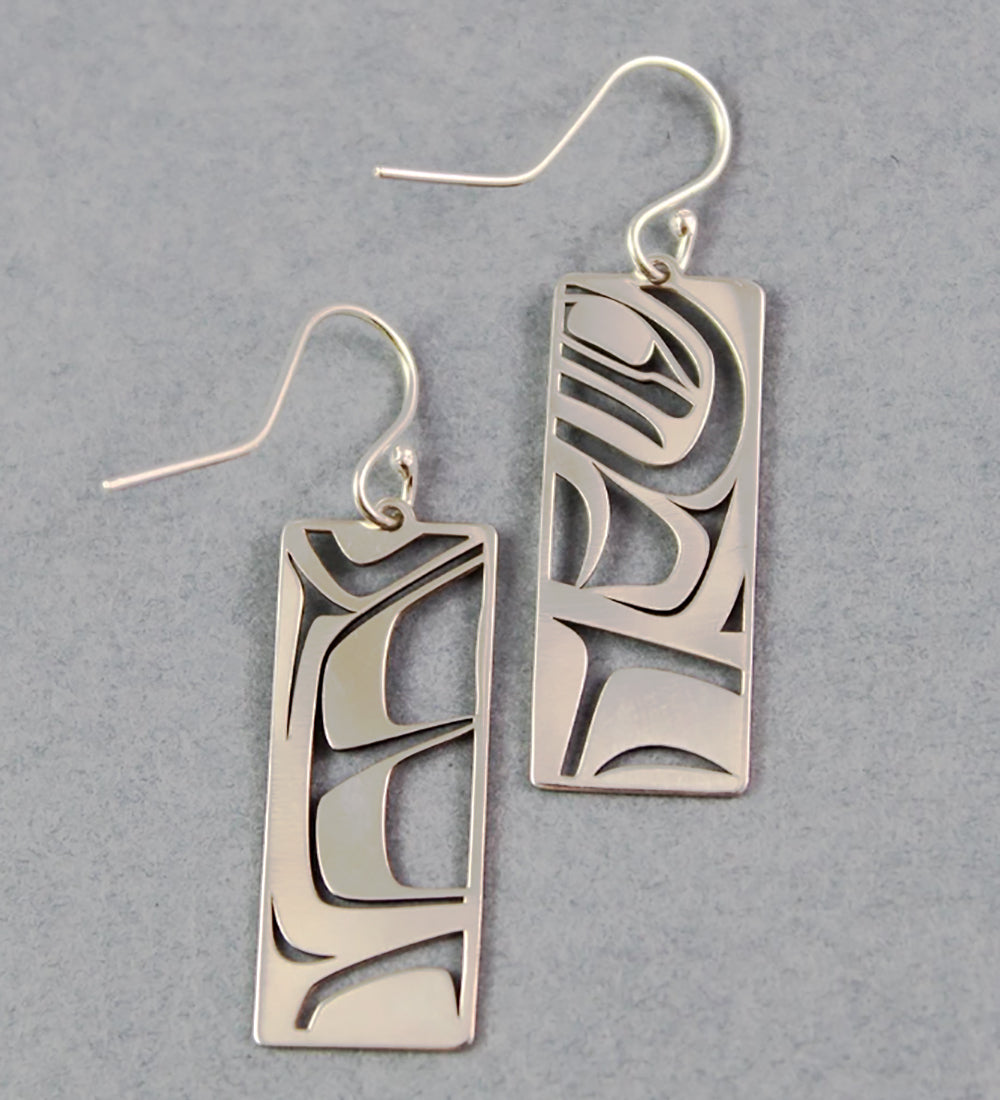 Raven Box - Sterling Silver Earrings