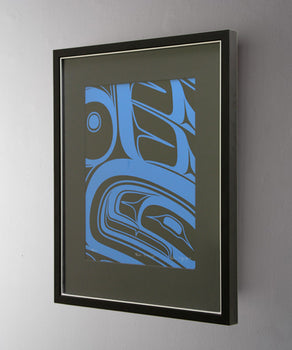 Blue Formline, Framed Limited Edition Print