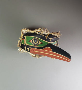 Hummingbird - Yellow Cedar Mask