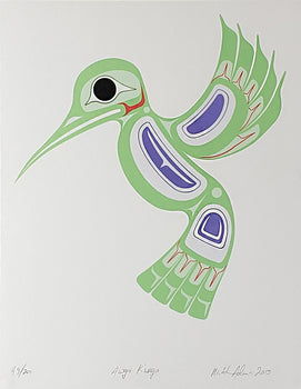 Awag Ku'uga / Hummingbird, Limited Edition Print