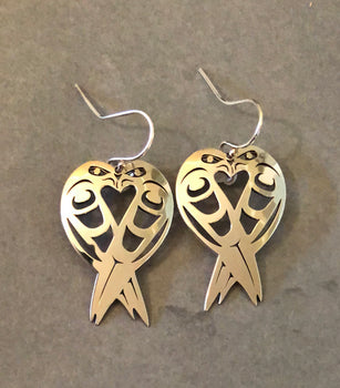 Lovebirds - Sterling Silver Earrings