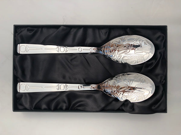 Whale, Silver Plate Server Set