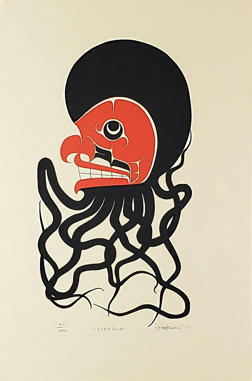 Octopus Print - Art Thompson (Nuu-chah-nulth)