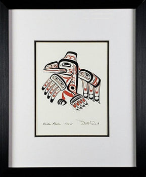 Haida Raven - XUUYA - Framed Art Card