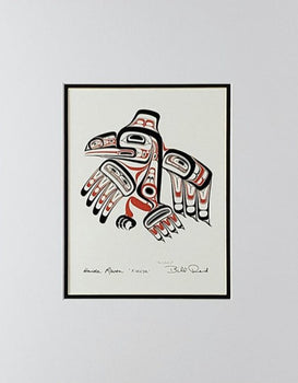 Haida Raven - 'Xuuya' - Red and Black Series, Matted Art Card
