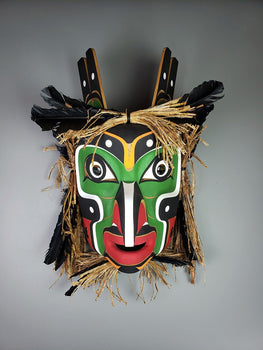 Raven Man - Red Cedar Mask