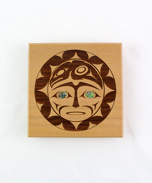 Raven and Sun Bentwood Box