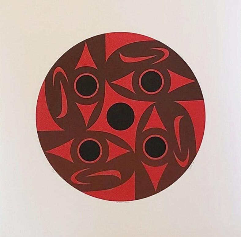 Salmon Circle, Limited Edition Print