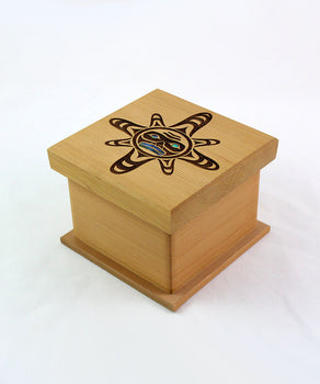 Sun Mask, Red Cedar Bentwood Box