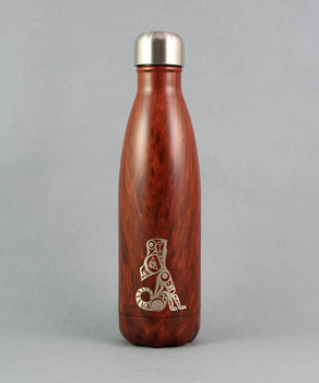 Wolf Howling, 17oz Woodgrain Insulated Bottle