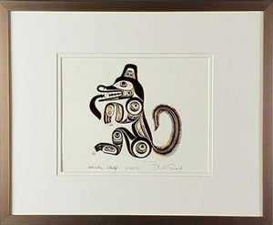 Haida Wolf - GHUUTS - Framed Art Card