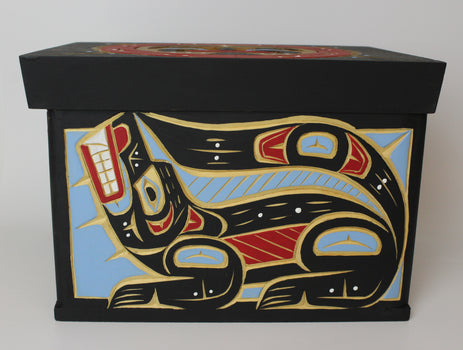 Wolf, Raven and Moon, Cedar Bentwood Box