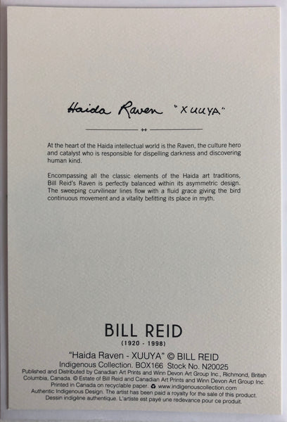 Bill Reid Notecard Box Set, Centennial Celebration
