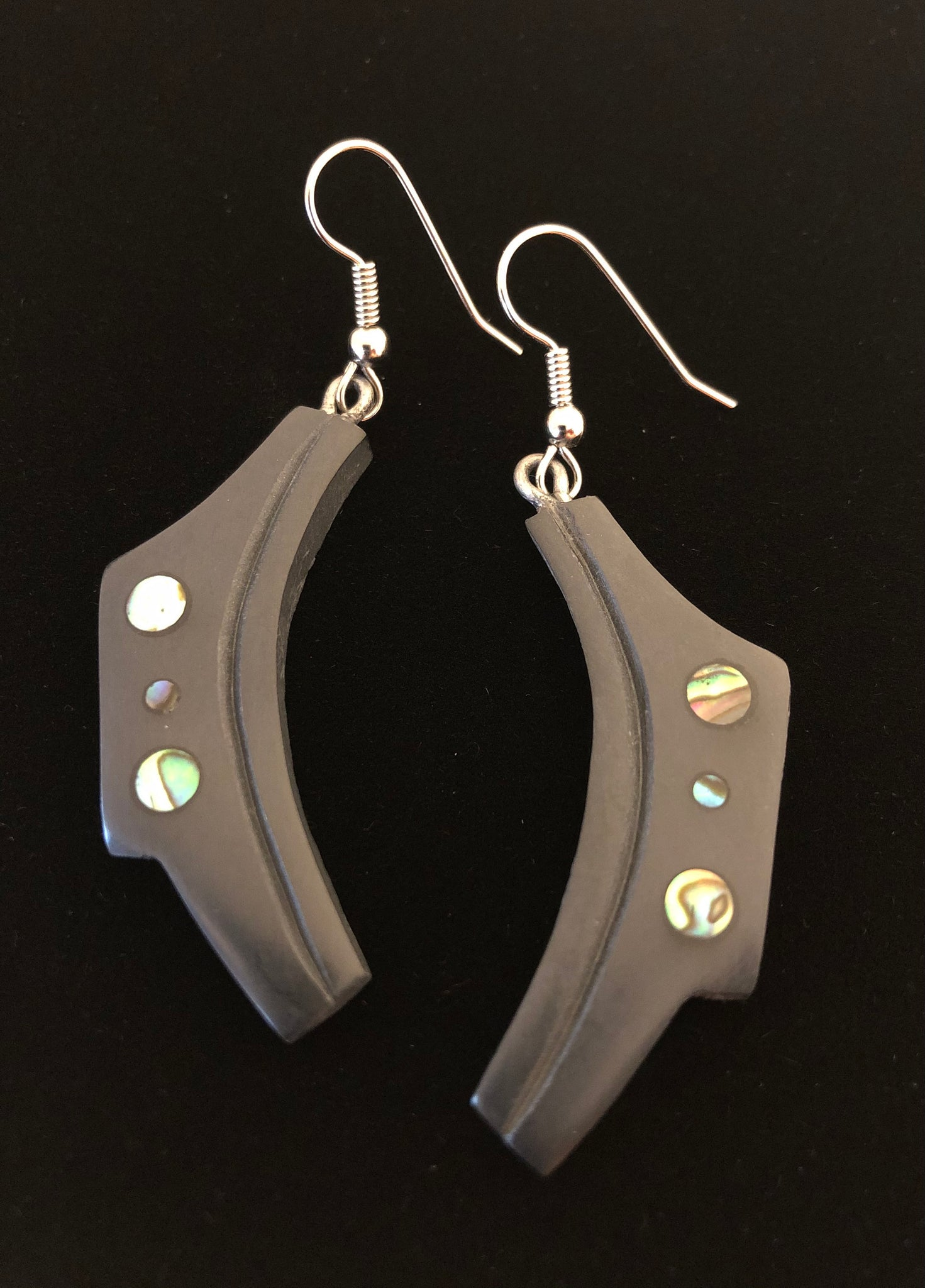 Canoe, Argillite Earrings