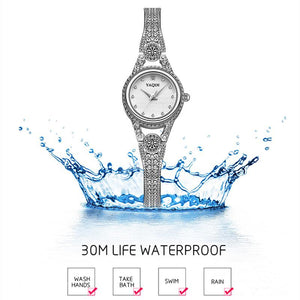 YAQIN women watch with diamond ladies jewelry bracelet watch